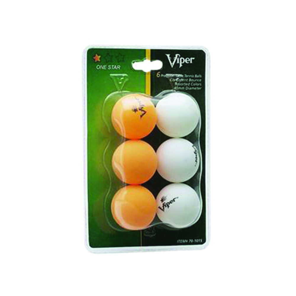 Viper ping pong table tennis 1 star 2 color balls ebay for 1 star table tennis balls