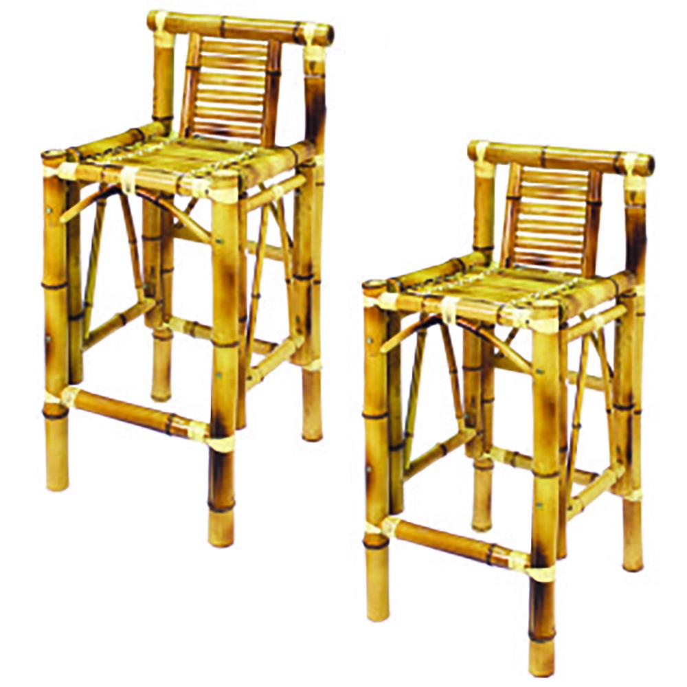 60 Quot Bamboo Tiki Bar 2 Bamboo Tiki Bar Stools Beige